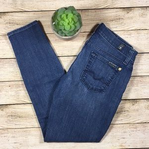 """7 for All Mankind """"Cropped Gwenevere"""" Jeans 25"""